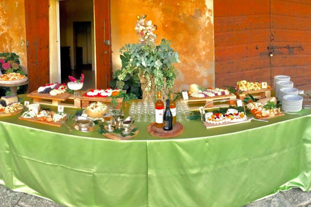 buffet di matrimonio
