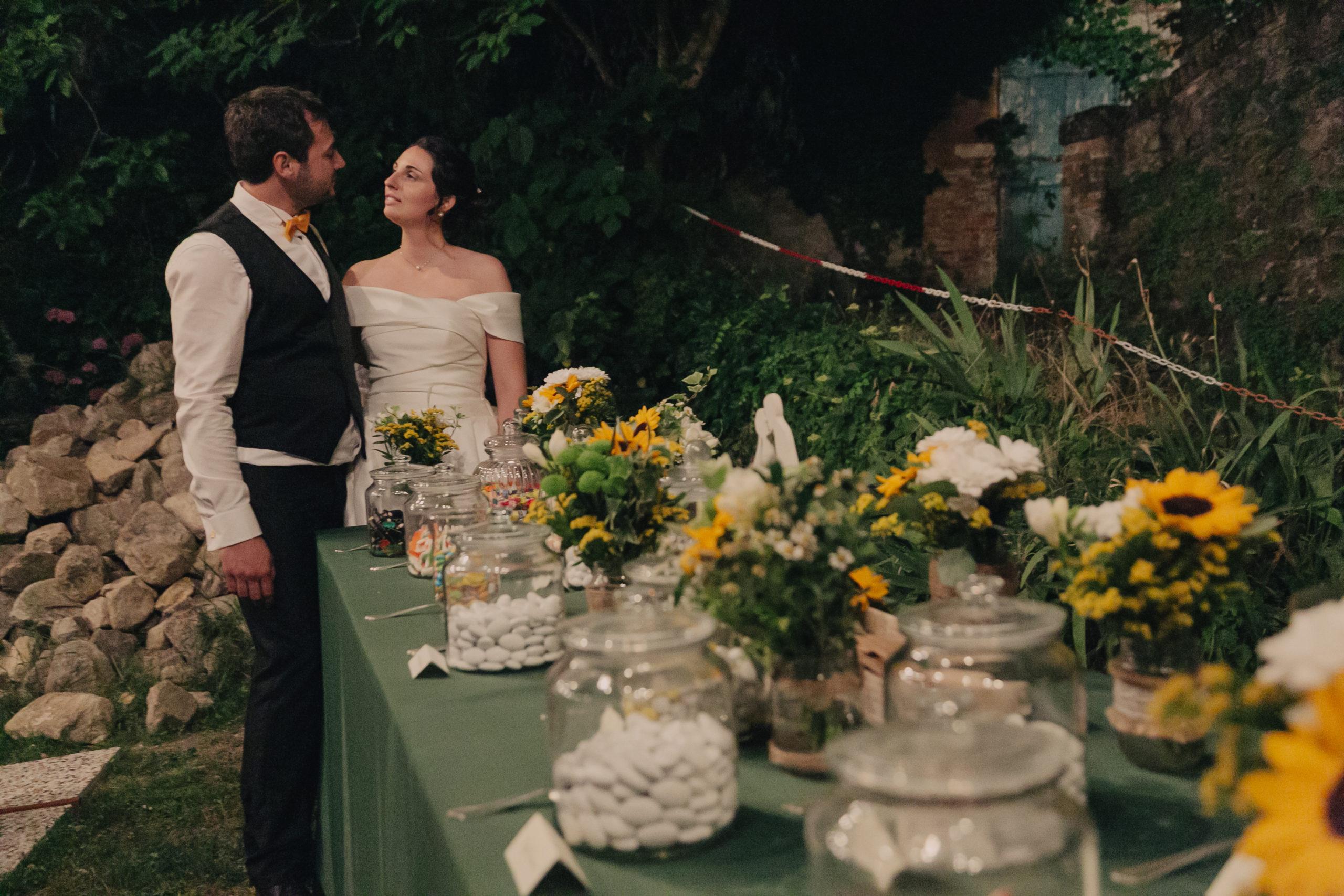 Matrimonio in giallo buffet