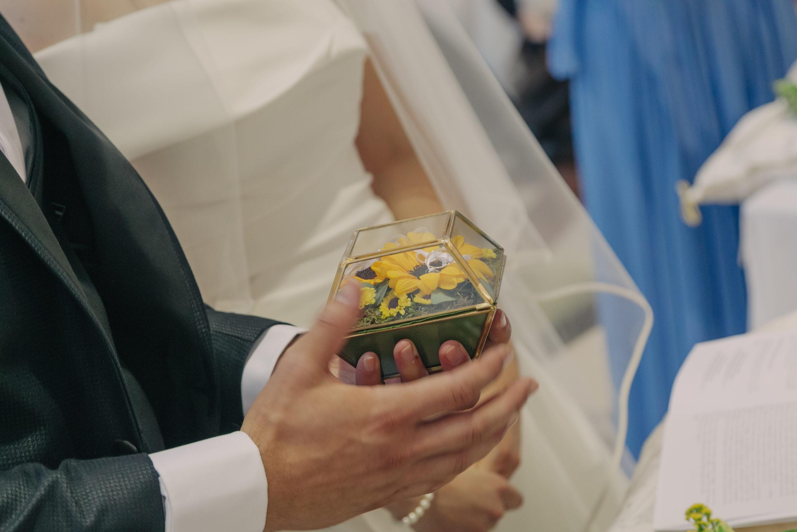 Matrimonio in giallo fedi