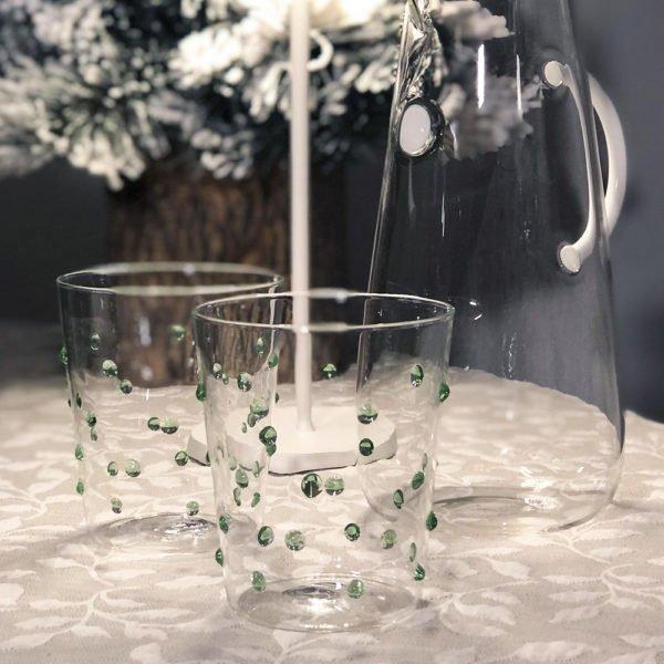 Bicchieri perle verdi 03