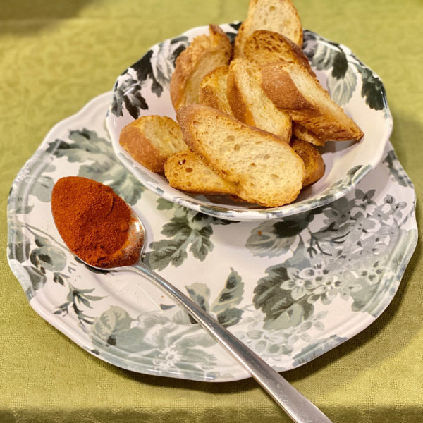 crostini alla paprika